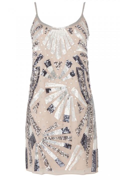 Coast Silver Embellished Cami Dress, £175